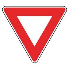 Panneau Cédez le passage à l´intersection - AB3a