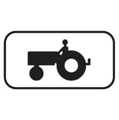 Panonceau Tracteur - M4i pour panneaux routiers