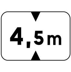 Panonceau Hauteur limitée - M4v pour panneaux routiers
