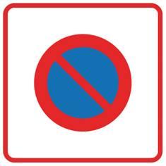 Panneau de stationnement Zone à stationnement interdit - B6b1