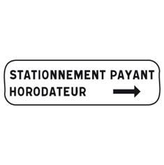 Panonceau Stationnement payant avec flèche - M6e