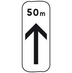 Panonceau Début d´interdiction et distance - M8a bis pour panneau de stationnement type B6