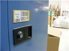 Porte-étiquettes magnétiques avec fenêtre transparente