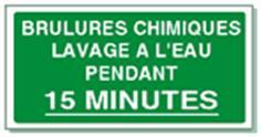 Brulures chimiques lavage à l´eau pendant 15 minutes - STF 2013