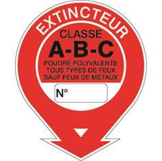 Panneau extincteur classe ABC STF 584