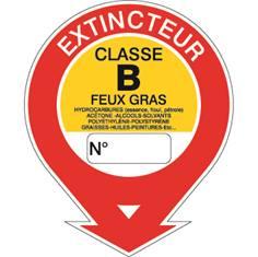 Panneau Extincteur classe B STF 579