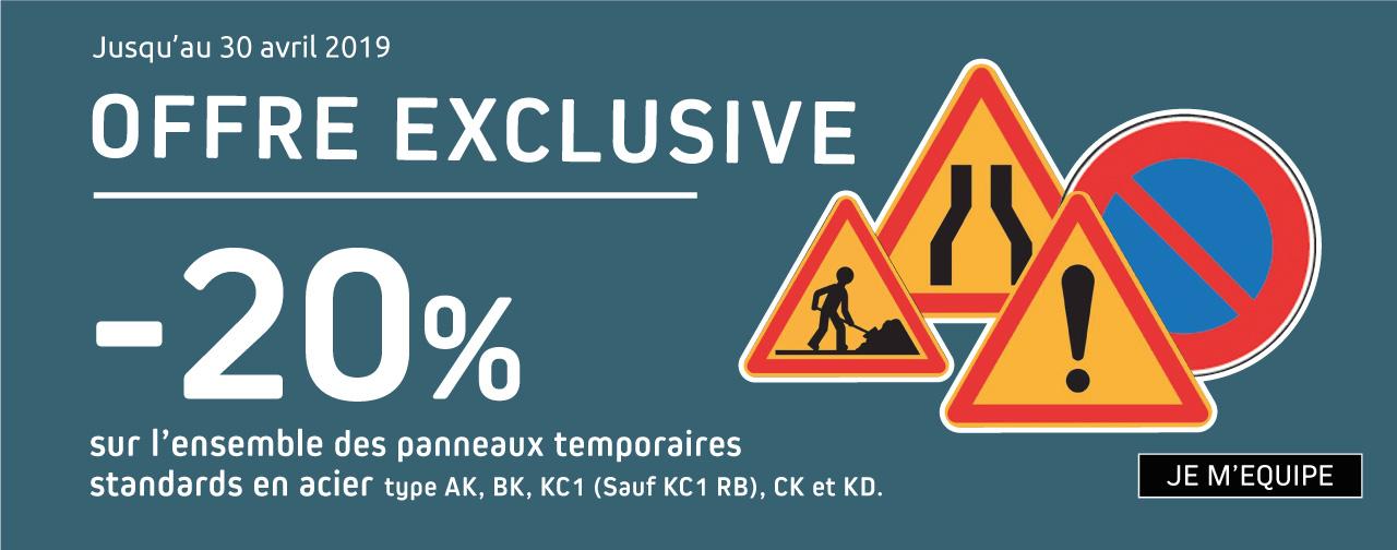 Promo panneaux routiers temporaires