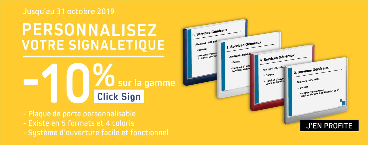 Promo Gamme Click Sign -10%